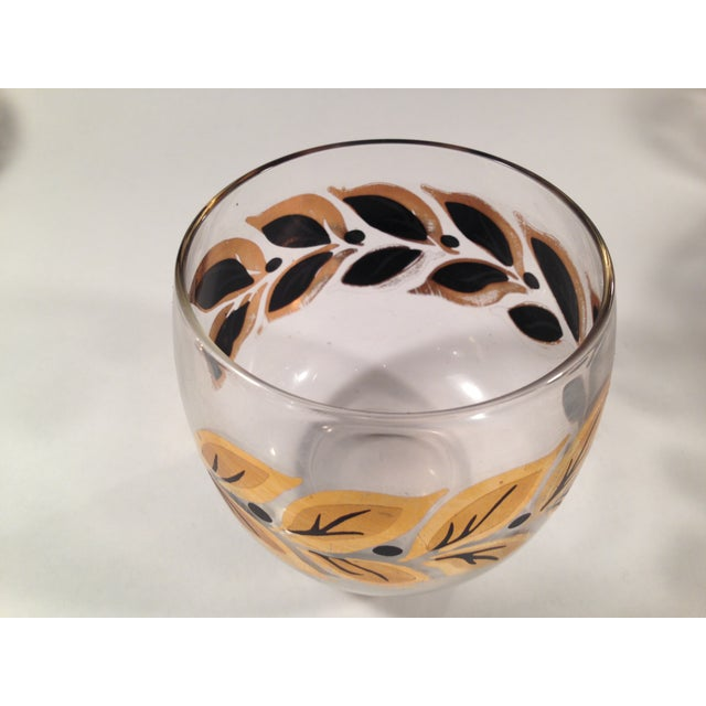 Gold & Black Roly Poly Bar Glasses - S/6 - Image 5 of 8