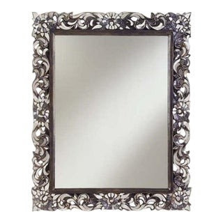 Transitional Rectangular Handcut Glass Mirror