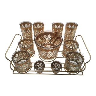 Mid-Century Culver Valencia Bar Set - Set of 12