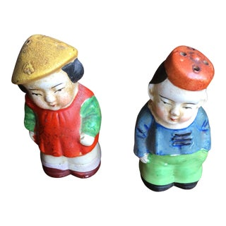 Vintage Chinese Salt & Pepper Figurines - A Pair