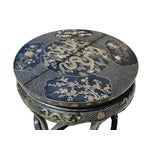 Image of Black Lacquer Dragon Table & Stools