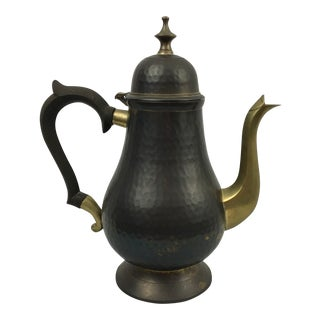 Indian Hammered Brass Coffee Pot