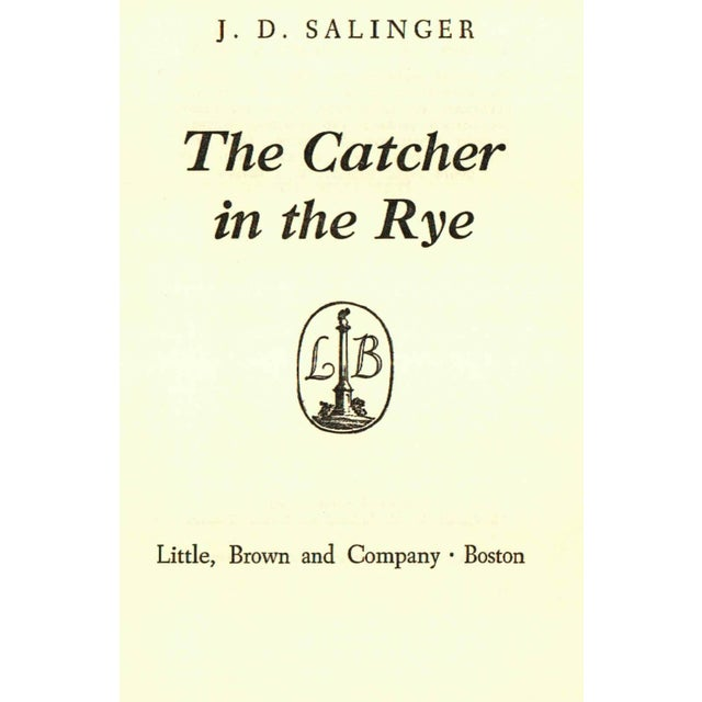 "1950s ""The Catcher in the Rye"" Hardcover Book by J. D. Salinger - Image 2 of 3"