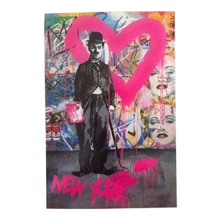 Mr. Brainwash Charlie Chaplin Madonna Lithograph