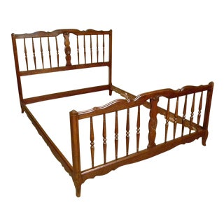 1900s Provincial-Style Full Size Bed Frame