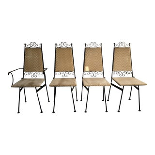 Unique Mid Century Stacking Chairs - Set of 4