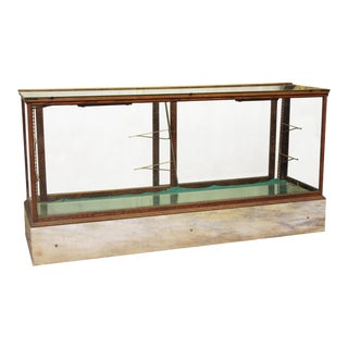 Antique Showcase With Marble Base