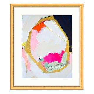 "Britt Bass Turner's ""Navy Geo"" Print in Gold Frame"