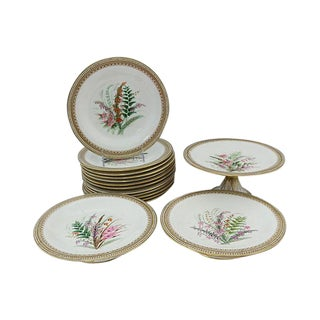 Royal Worcester Hand-Painted Serving Set - Set of 15