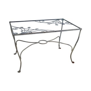 Salterini Art Nouveau Iron Patio Dining Table