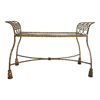 Italian Hollywood Regency Bench