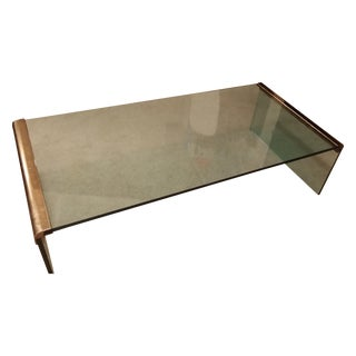 Pace Waterfall Coffee Table With Brass Trim