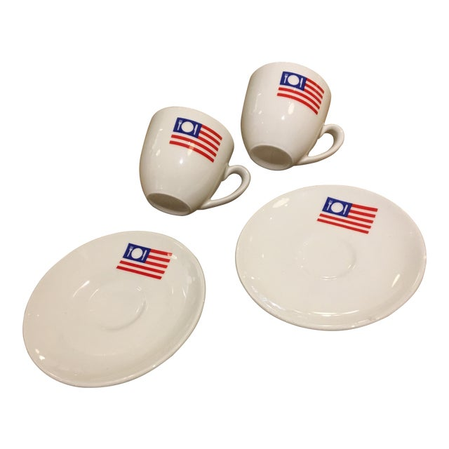 Espresso Cups and Saucers - Set 2 - Image 1 of 4