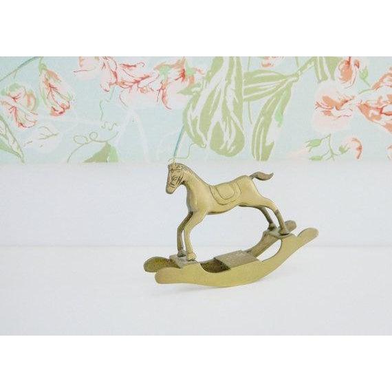 Brass Rocking Horse - Image 4 of 4