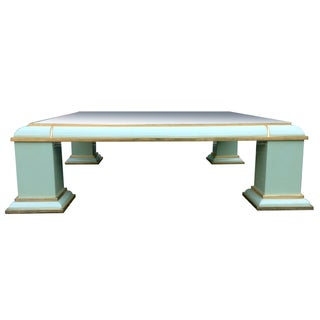 AP Monumental Brass & Mirror Top Coffee Table