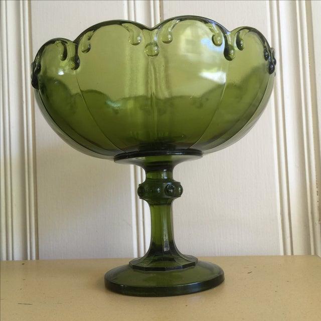 Vintage Green Glass Bowl - Image 6 of 9