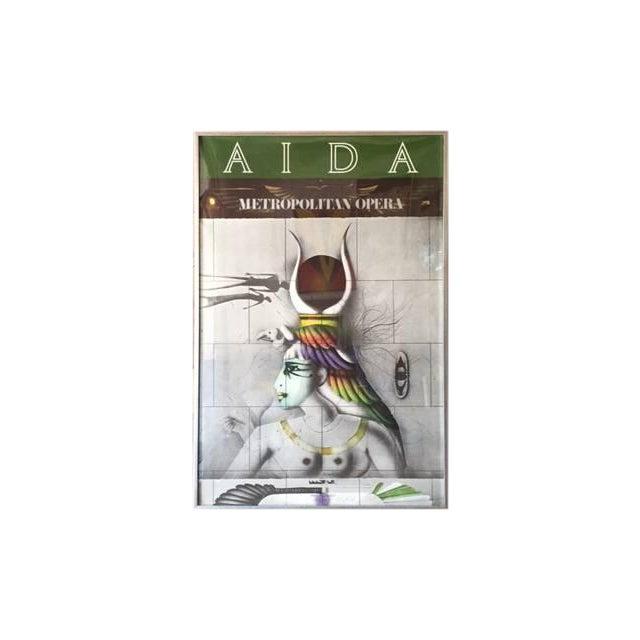 Vintage Aida Metropolitan Opera Lithograph Poster - Image 1 of 3