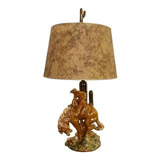 1940s Vintage Cowboy & Horse Lamp