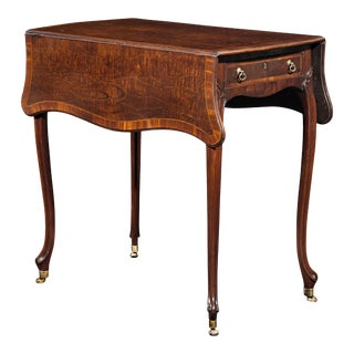 Crocodile Mahogany Pembroke Table By Thomas Chippendale