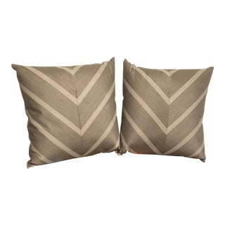 Elaine Smith Sparkle Chevron Outdoor Pillows - A Pair