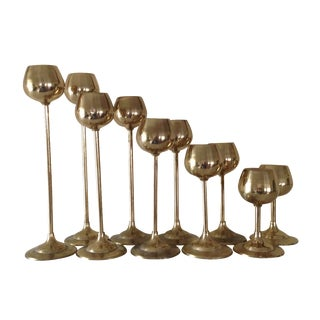 Danish Modern Tulip Candle Holders - Set of 10