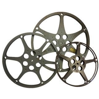 Vintage Metal Film Reels - Set of 3