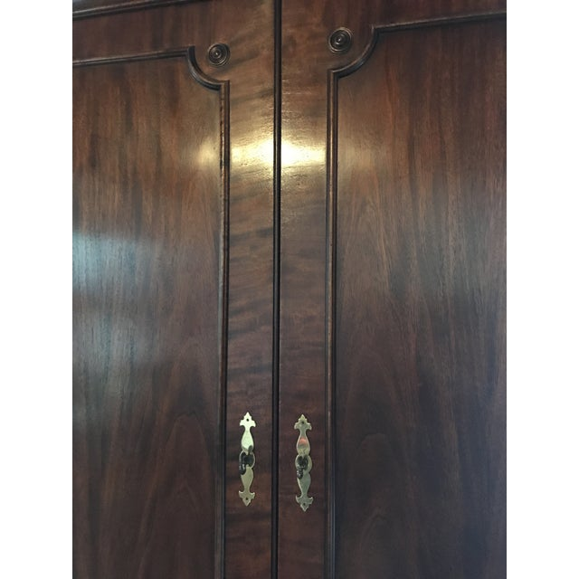 Vintage Century Cherry Wood Bar Armoire Cabinet - Image 4 of 11