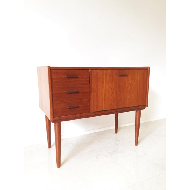Vintage Danish Modern Teak Mini Chest Cabinet - Image 3 of 7
