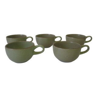 Set of Five Vintage Heath Ceramics Tea Cups