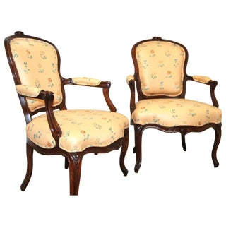 19th Century French Louis XV Style Chairs - A Pair