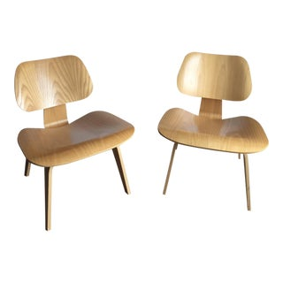 Ash Herman Miller Lounge Chairs - A Pair