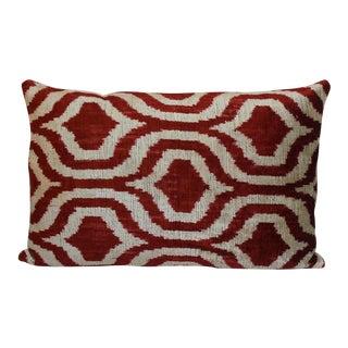 Contemporary Silk Velvet Accent Pillow