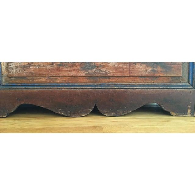 Antique Wooden Storage Bench - Image 8 of 8
