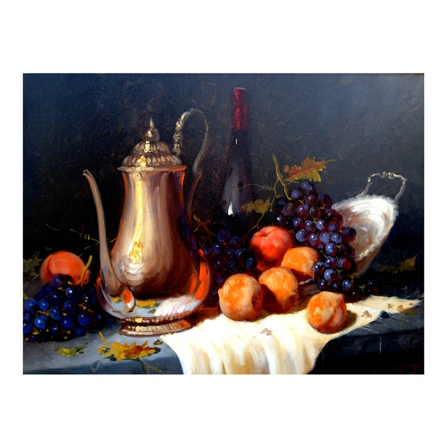 Pears & Grapes Painting by Monteiro Prestes - Image 3 of 4