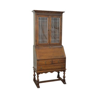 Ethan Allen Royal Charter Oak Secretary Desk