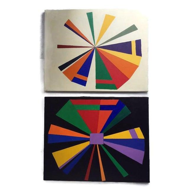 Vintage Geometric Modern Canvas Art Set - Image 5 of 6