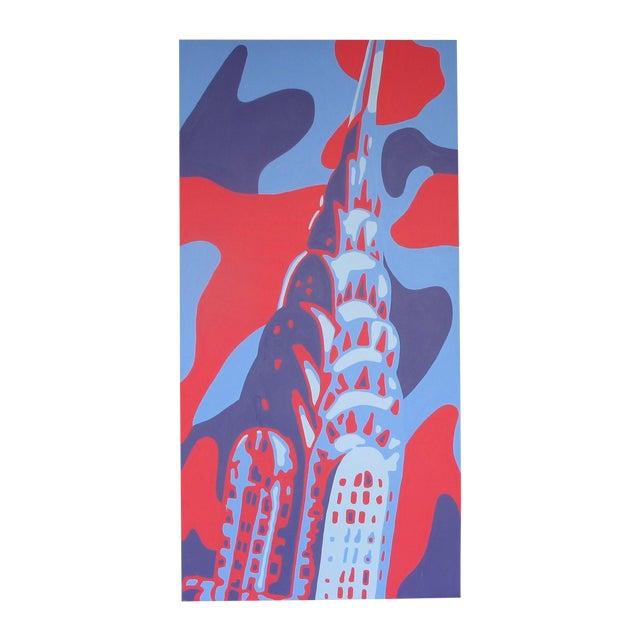Monumental Acrylic of New York's Chrysler Building - Image 1 of 8