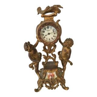 Antique New Haven Bronze Mantle Clock