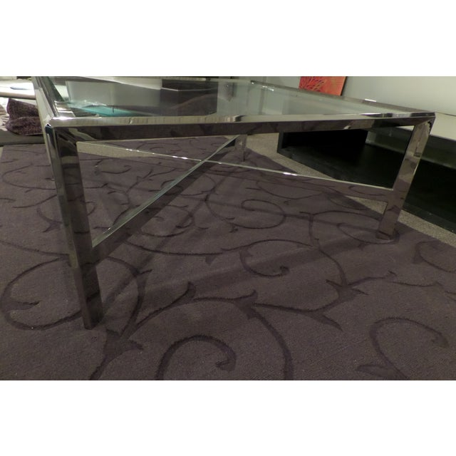 Chrome & Glass Cocktail Table - Image 6 of 7