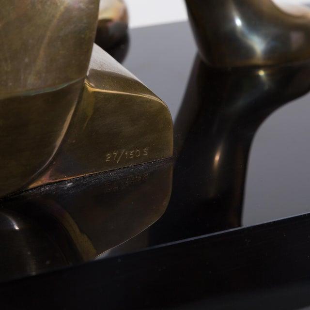 A Large Limited Edition Bronze Jaguar Table Sculpture 1970s - Image 10 of 10