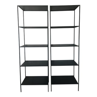 Room & Board Modern Slim Steel Bookcases- A Pair