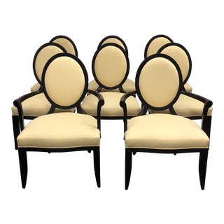 Barbara Baker Oval X Back Chairs for Baker- Set of 8