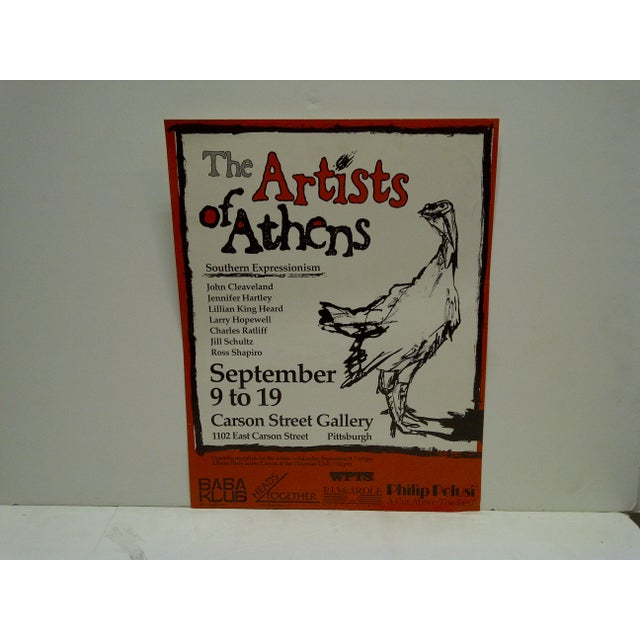 The Artists of Athens Carson Street Gallery Pittsburgh PA Poster - Image 3 of 5