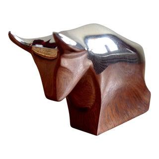 Dansk Cubist Bull Market Paperweight