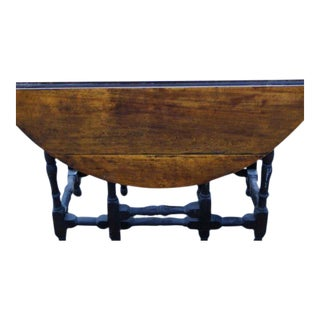 18th Century Massachusetts William & Mary Gateleg Table