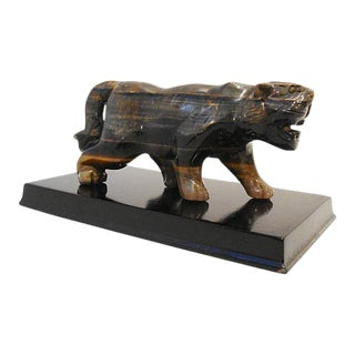 Stone Tiger on Stand