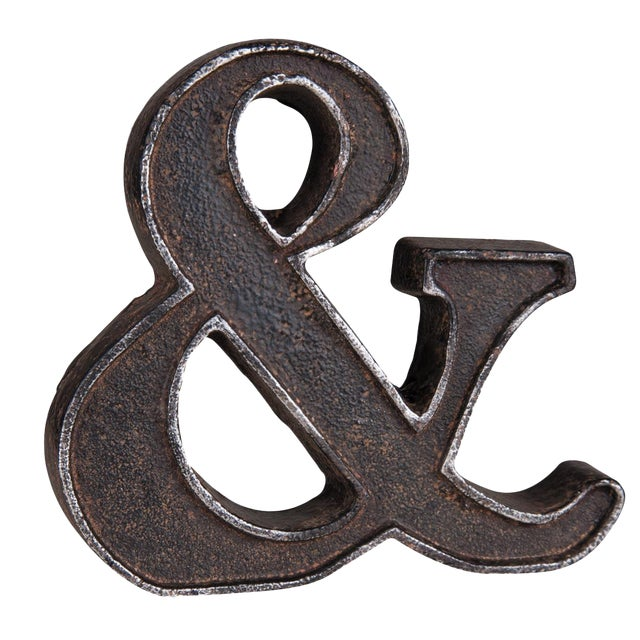 Cast Iron Ampersand Paperweight - Image 1 of 7