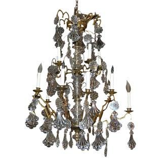 Wonderful French Bronze & Crystal Chandelier