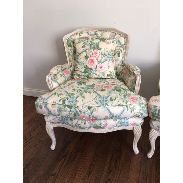 Shabby Chic Floral Bergere Chairs - A Pair - Image 3 of 11