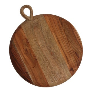 Indaba Wooden Round Cutting Board